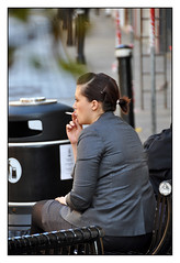 Puff? (Bob the Binman) Tags: street castle girl cigarette candid smoke attractive windsor brunette berkshire tobacco nikond90