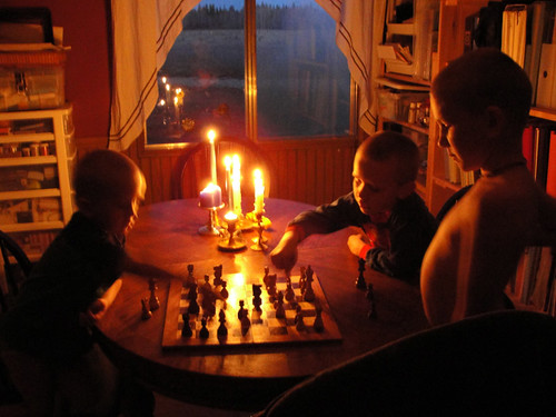 Making a move by candlelight