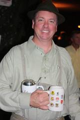 Steve Marler (jayinvienna) Tags: dulles oktoberfest lederhosen homebrew stein burp krug germanbeernight stevemarler germanbeernight2010