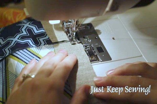 Chain Piecing - Keep sewing