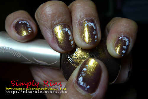 Nail Art Mothers Are Precious Like Gold 02