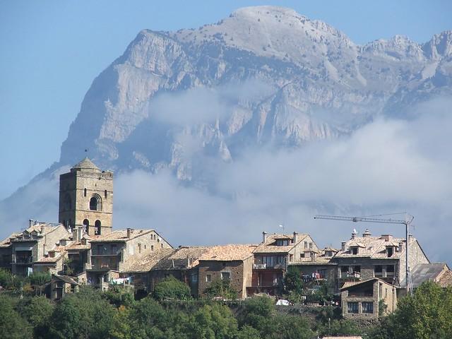 Town of Ainsa and Peña Montañesa
