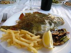 My Fish Meal (bikesnapper) Tags: food fish lemon spain plate meal onionrings oropesadelmar g9 canong9 canonpowershotg9 g9powershot canong9powershot