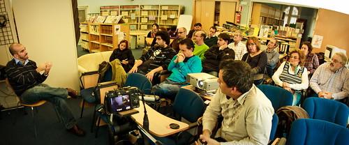 Panorámica de la V Cita Getxoblog con Yuri Morejón