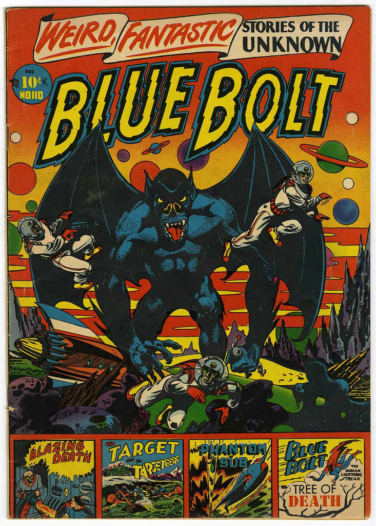 Blue Bolt #110 (Star Publications, 1951)