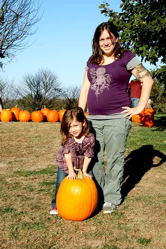 Megan & Eliza with the Perfect Pumpkin