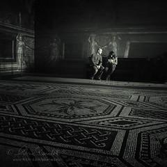 archaic love (Ąиđч) Tags: street light woman white man black vatican andy museum dark photography donna couple strada floor andrea mosaic candid mosaico stranger andrew musei uomo fotografia luce shaft coppia buio vaticani tiled sconosciuto raggio benedetti ąиđч