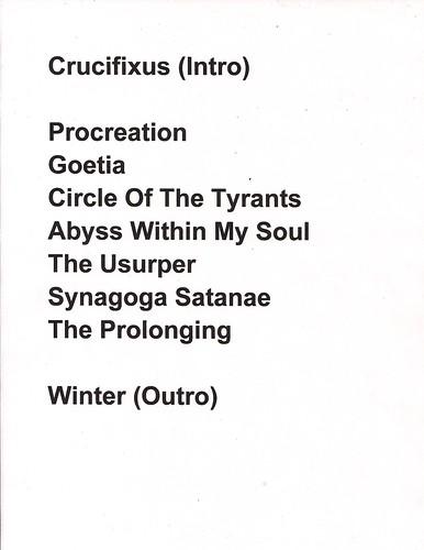 10/17/10 Triptykon @ St. Paul, MN (Setlist)