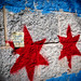 I like graffiti in the form of the Chicago flag
