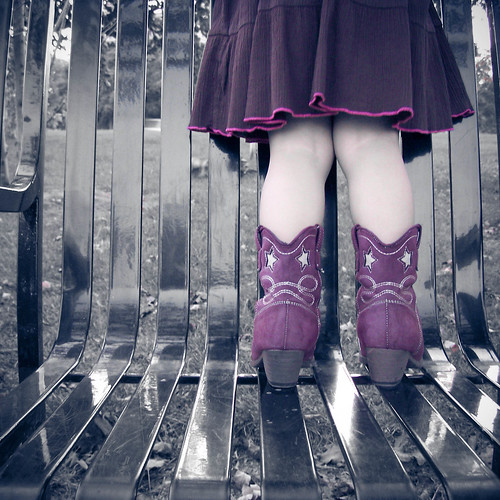 pink girl bench toddler freya selectivecolor cowgirlboots garbongbisaya benchmonday snapies pinkyboots