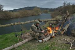 Wye fire 2008 (uskgrub) Tags: fish breakfast fire fishing salmon chub barbel usk wye