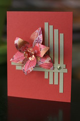 Japanese Floral Art Class- October 2010 (Craft Fancy) Tags: flowers floral card cardclass japanesepaperquilting