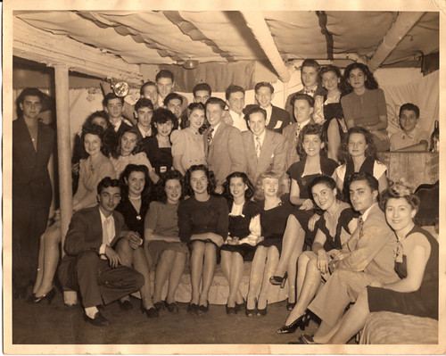 Basement party group photo, circa 1942