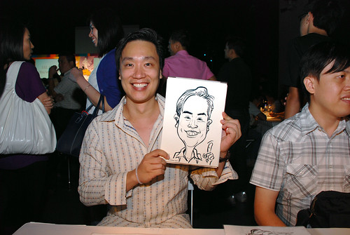 caricature live sketching for SDN First Anniversary Bash - 23
