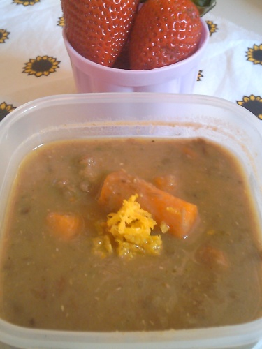 #430 - Roast Carrot and Lentil Soup