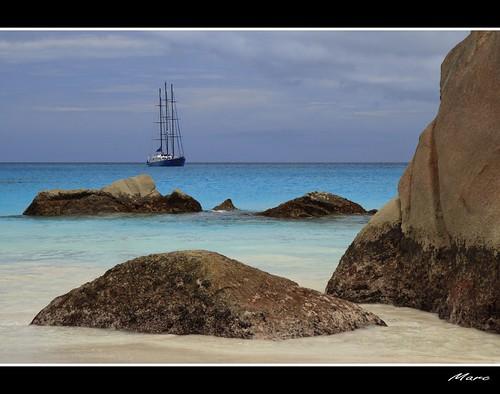 Seychelles Praslin chevalier bay by - Marc -