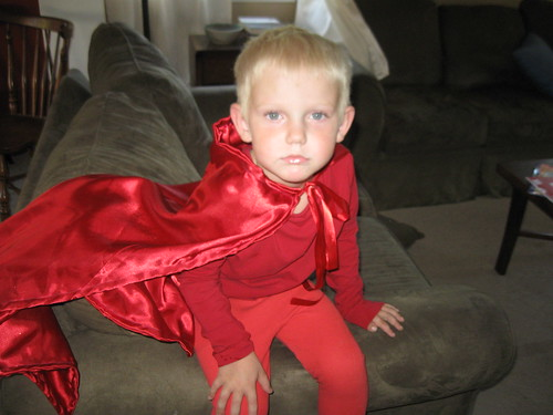 "He wants to be a ""Red Super Hero"""