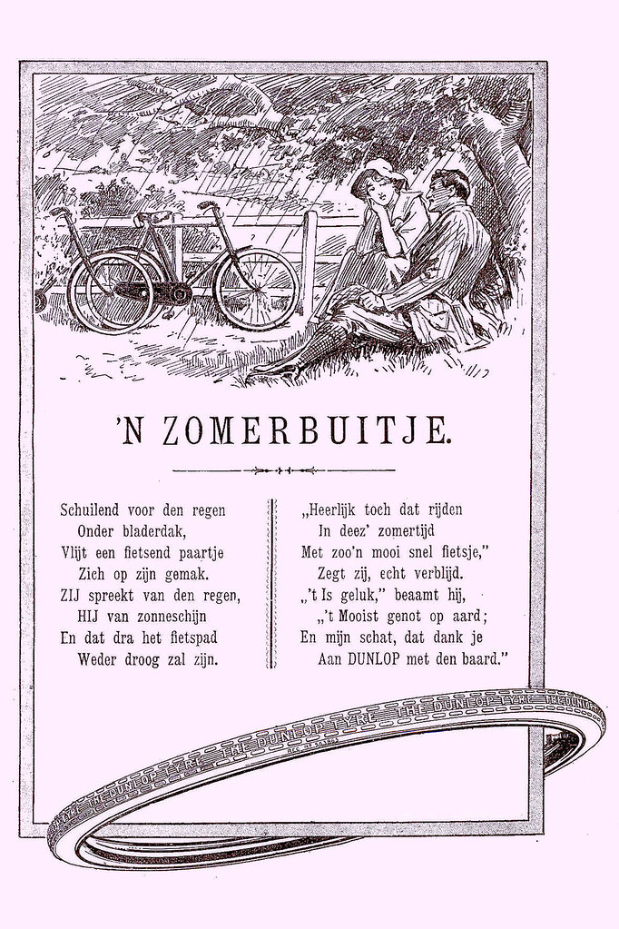 1914 Bicycle Tyres  Dunlop Poetic