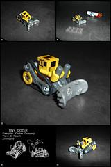 Tiny Dozer (Pierre E Fieschi) Tags: city truck town lego pierre caterpillar tiny micro dozer bulldozer ville moc fieschi microscale microcity