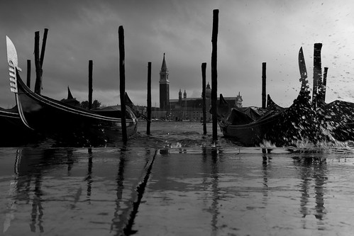 Quayside Spray & Gondolas, Venice by flatworldsedge