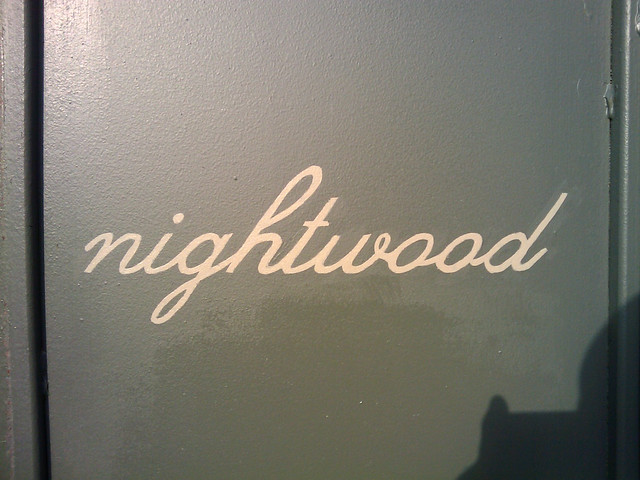 Nightwood Restaurant Sign Chicago