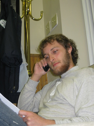 Zac Dannemon making voter empowerment photn calls