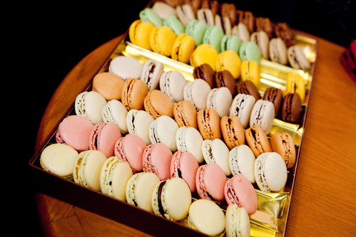 A large box of macarons to eat