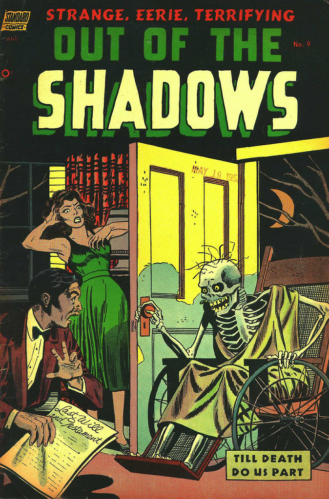 Out Of The Shadows #9 Reed Crandall Cover Art (Standard, 1953)