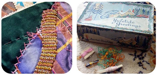 grandma ida's crazy quilt, detail