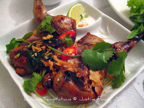 Grilled Quail with Honey, Garlic and Spices - Mien Tay, Battersea
