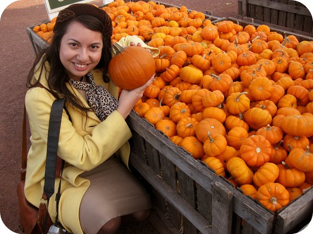 Picking out my Halloween pumpkin!