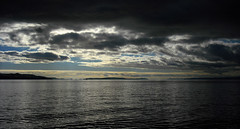 Moody sky over the Clyde (Rich3591) Tags: sky sunlight water clouds marina dark landscape scotland clyde moody inverkip challengeyouwinner coastuk fujifilmfin