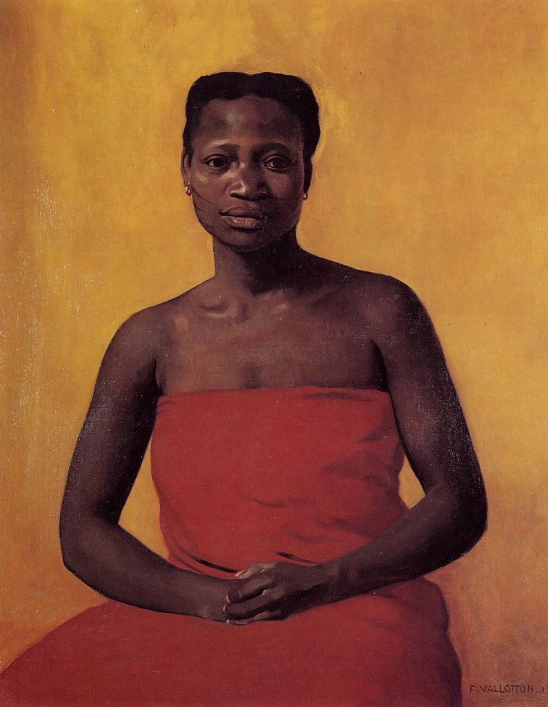 Valloton, Felix (1865-1925) - 1911 Seated Black Woman, Front View (Private Collection)