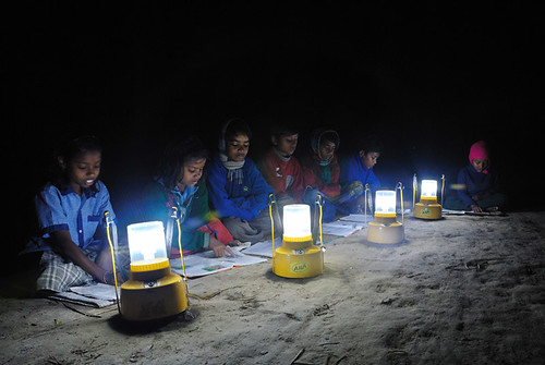 Solar lanterns for the poor students by solarweb