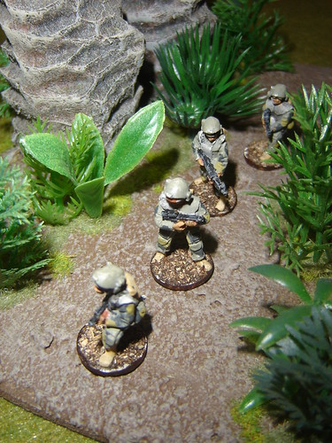 1st Fire Team - Sakhan Heavy Infantry