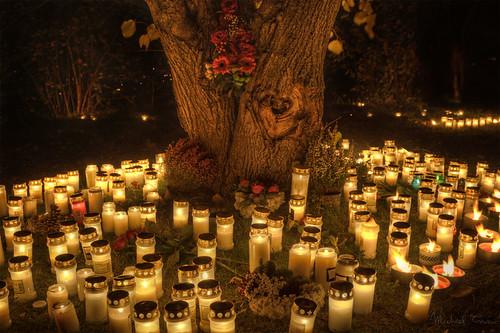 Skogskyrkogården on Halloween 2010