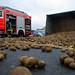 Kartoffelanhänger umgestürzt 13.11.10