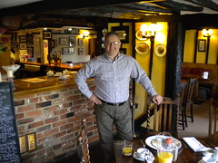Victor Roome owner of The Square and Compasses