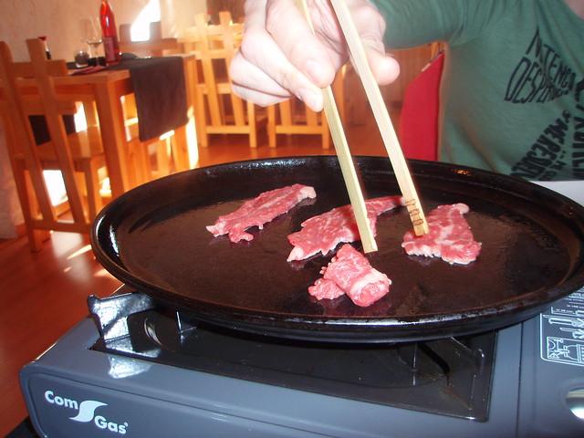 Yakiniku de ternera del Maguro-ya, restaurante japonés de Alicante