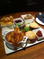 Sharing platter at Tempus bar, George St, Edinburgh