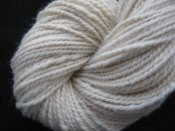 5.1 oz 2 ply Hand Spun Worsted Yarn 100% Alpaca  Natural