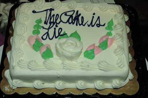 Cake is Lie. Lie is Cake.
