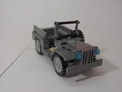 Dodge WC-51. (Carpet lego) Tags: scale lego m1 wheels tan tire pot wheeled backpack ww2 dodge decal spare comparison thompson minifigure brickarms wc51 roaglaan