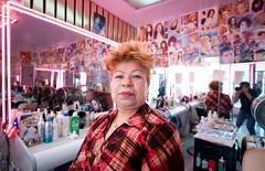 Alba the Hairdresser:  Bushwick Brooklyn (Chris Arnade) Tags: newyorkcity brooklyn barbershop hairdresser bushwick chrisarnade