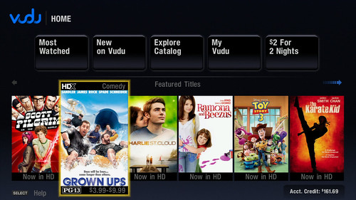 PlayStation 3 - Vudu Dashboard