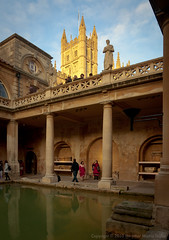 The Great Bath (the other Martin Taylor) Tags: uk abbey architecture bath roman tourists baths column