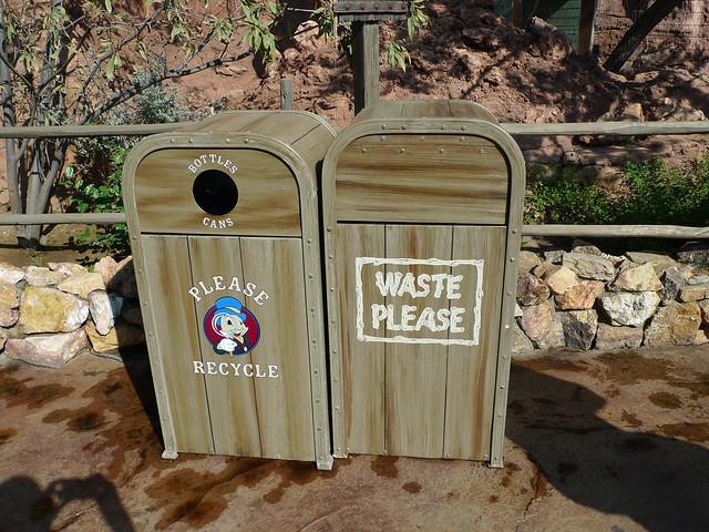 Branded trashcans