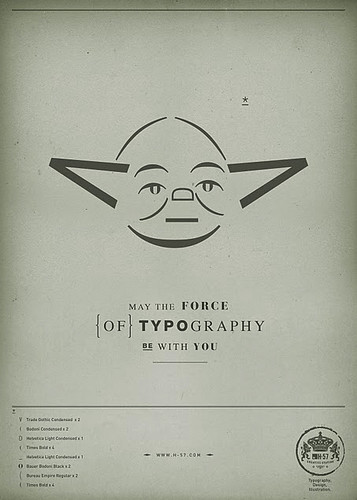 Typography Yoda / Star Wars