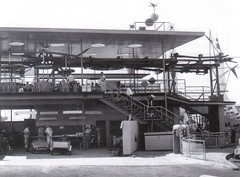 Tomorrowland Skyway 1956 (vonrollskyway1) Tags: california history vintage switzerland lift disneyland swiss disney 101 historical gondola 1956 tomorrowland tension ropeway skyride missed skyway seilbahn teleferik vonroll type101 disneylandskyway swissskyride vr101 vr101skyride