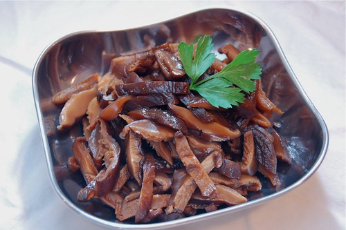 Momofuku's soy pickled shitakes